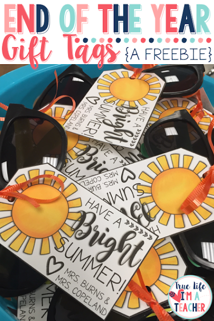 At the end of each school year, I love giving my students a little gift. This year, I used these printable gift tags for end of the year student gifts.