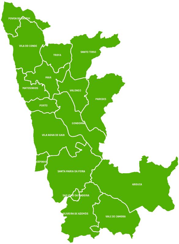 mapa da area metropolitana do porto Geografia A : Área Metropolitana de Lisboa e do Porto mapa da area metropolitana do porto
