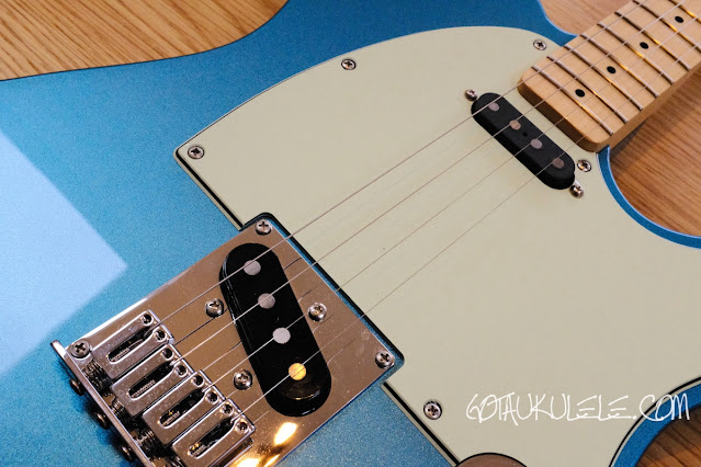 Fender Tenor Tele Guitar Ukulele Hybrid pickups