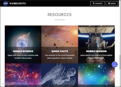 موقع تلسكوب هابل HUBBLESITE