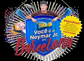 Promoção Tele-Sena - Você e o Neymar em Barcelona!
