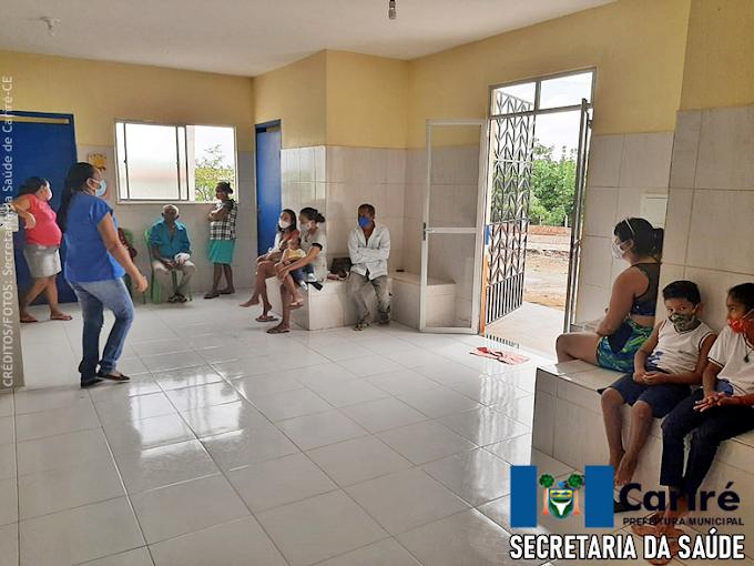 Centro de Saúde da Família de Serrote Branco-Cariré inicia os primeiros atendimentos à comunidade em sua reabertura