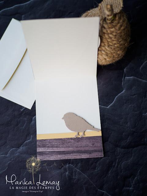carte coucou bébé avec les thinlits Fleurs et oiseaux