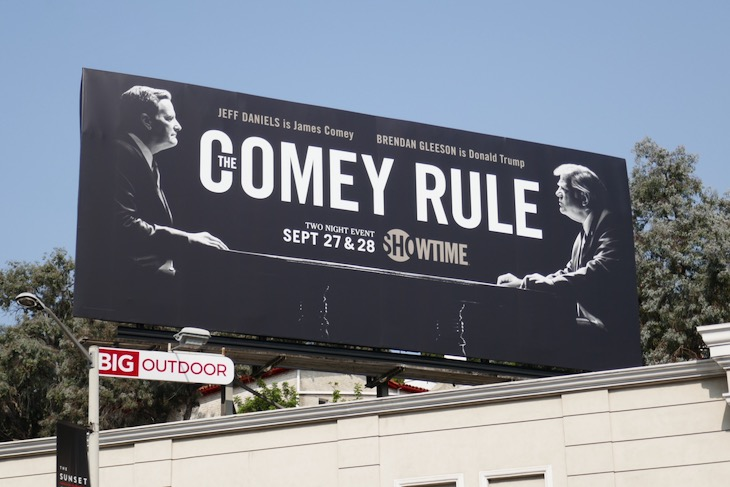 Comey Rule limited series billboard