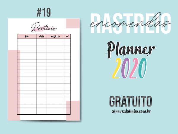PLANNER 2020 #19: Rastreio de encomendas gratuito para download