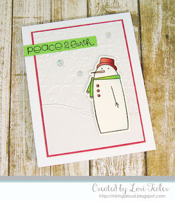 Peace on Earth card-designed by Lori Tecler/Inking Aloud-stamps and dies from Paper Smooches