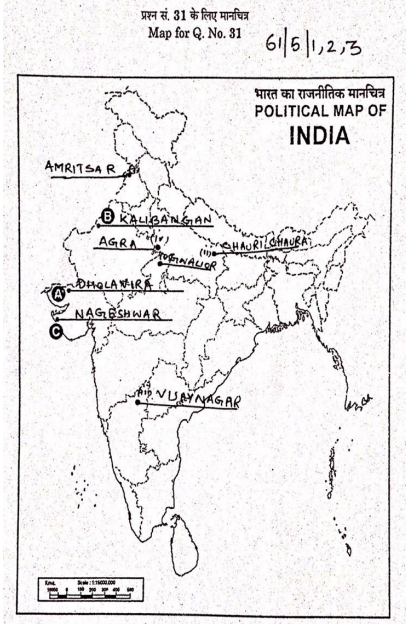Map for Answer no 31