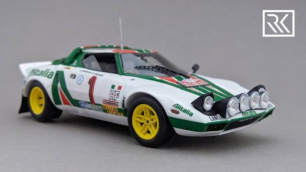 1:43 Spark Lancia Stratos HF, Rallye Monte-Carlo 1977, Winners: S. Munari / S. Maiga