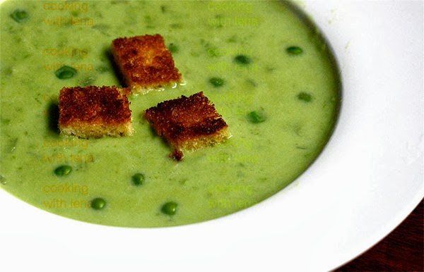 cream of fresh green pea soup