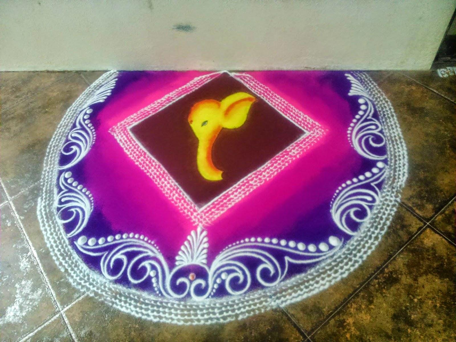 Kolam for Diwali 11