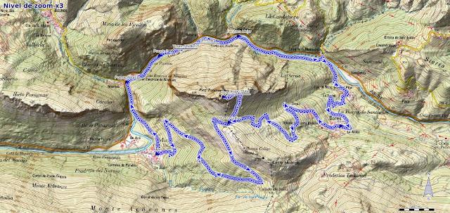 Mapa de la Ruta Circular a la Pica de Peñamellera