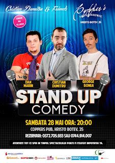 Stand-Up Comedy Sambata 28 Mai Bucuresti