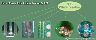 The solder flux residue is not easy to remove by brush the best quality PCB cleaner liquid cleaners used to clean the board prints