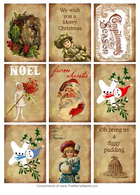 free printable diy christmas tags for gifts