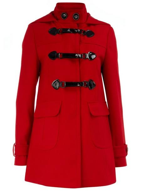 Kırmızı Renk Bayan Kaban ve Manto Modelleri