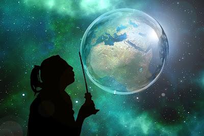 Mundo em uma bola de sabão. Como seria o mundial