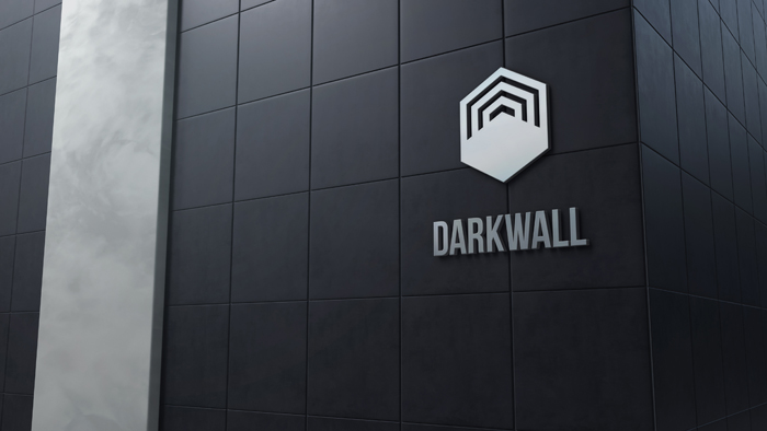 3D Logo Mockup Dark Wall With Tiles
