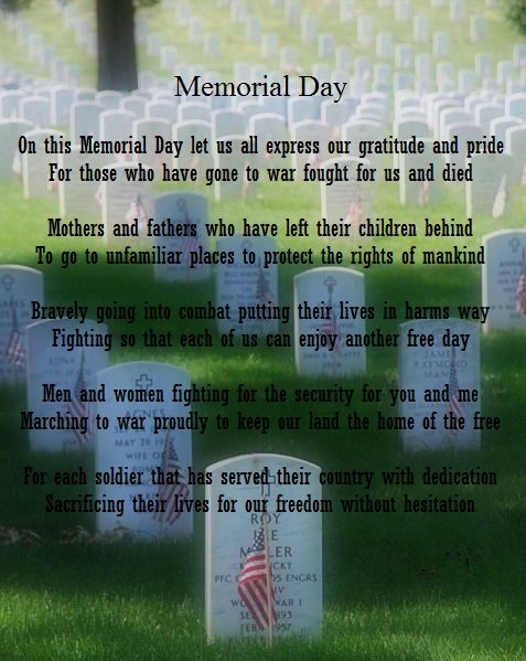 Memorial day poems quotes
