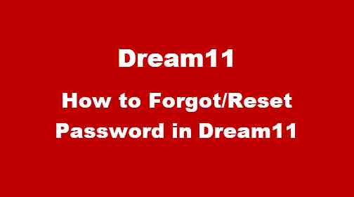 How to change dream 11 password
