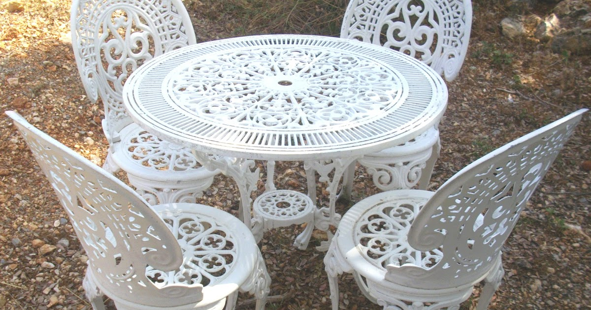 www.didoulabrocante.fr: salon de jardin ROCAILLE blanc immitation ...