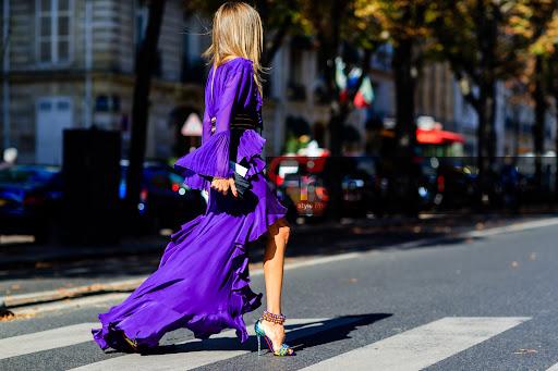 Frenchy Style Purple Dress