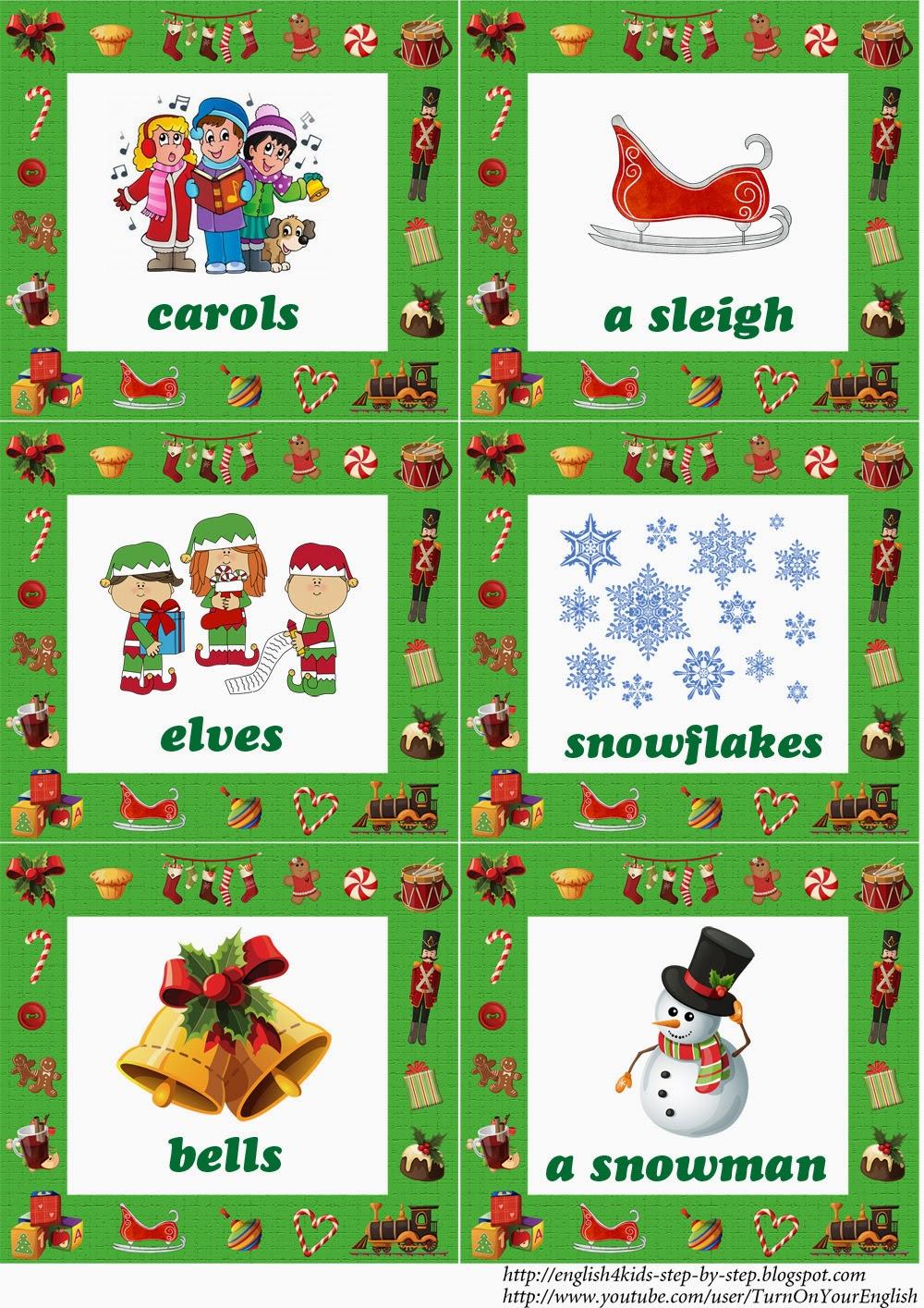 Christmas Fun Song for Kids (+ Flashcards)