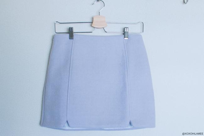SHEIN 台形 パープル ウール ミニスカート