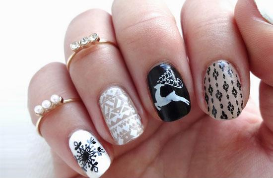 21 DIY Christmas Nail Art Ideas for Short Nails