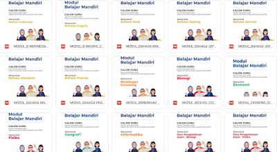 LENGKAP 35 Modul Belajar Mandiri Semua Mapel Untuk CPNS dan PPPK Jenjang TK/PAUD/SD/SMP/SMA/SMK Tahun 2021