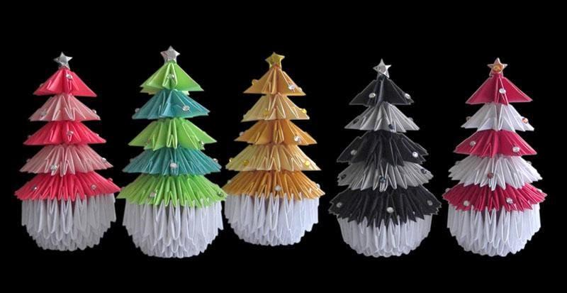 Origami Maniacs: 3D Origami Christmas Tree - photo#30