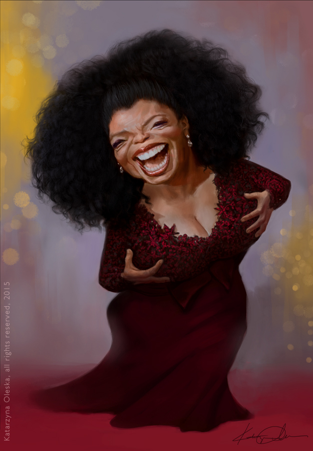 Oprah Winfrey caricature