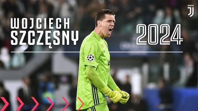 Juventus goalie Wojciech Szczesny extends his contract with Juventus