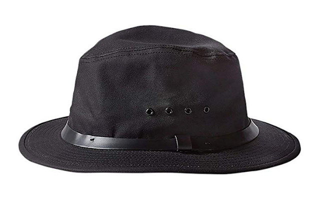 black hiking hat