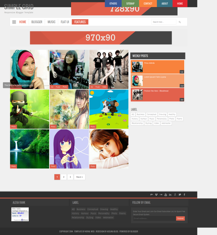 Simple Grid Responsive V2 Blogger Template