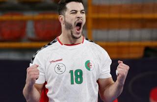 الجزائر تعود و تفوز بفارق هدف امام المغرب كاس العالم لكرة اليد 2021