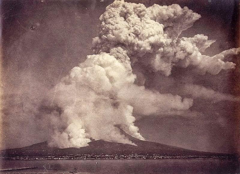 erupção vesúvio 1872