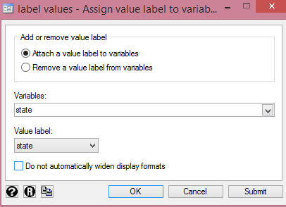 Adding Value Labels to Categorical Variables from http://cruncheconometrix.com.ng