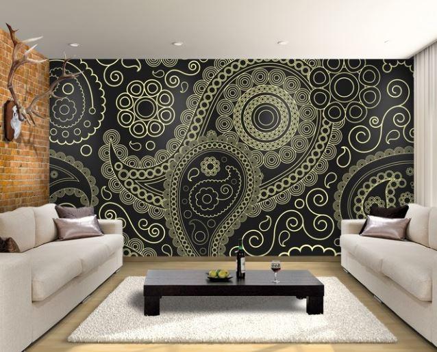 Paisley Wallpaper for Living Room