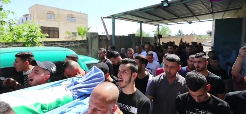 تشييع جثمان الشهيد ياسين حمد في صيدا شمال طولكرم