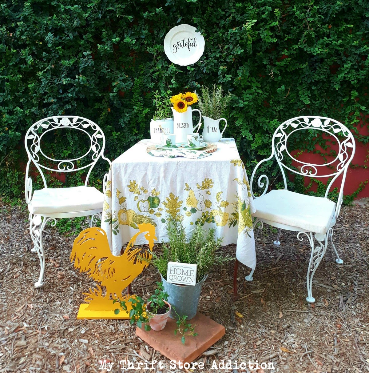 thrifty fall garden decor