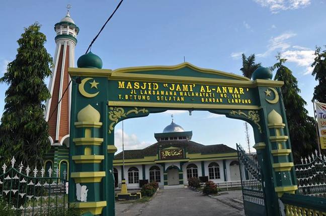 Sejenak Singgah di Masjid Al-Anwar, Masjid Tertua dan Bersejarah di Lampung