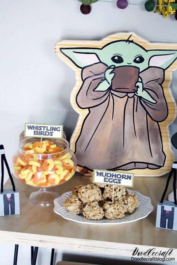 Mandalorian Baby Yoda Birthday Party Diy
