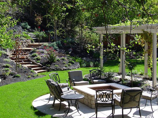 garden sitting area design