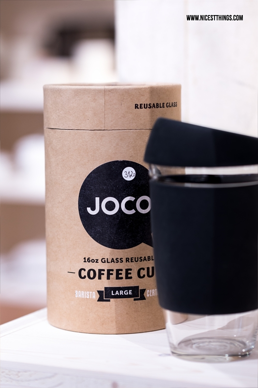 Joco Coffee To Go Cup nachfüllbarer Kaffee Becher aus Glas