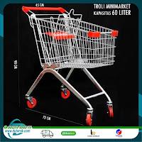Troli belanja minimarket supermarket murah GRATIS ONGKIR