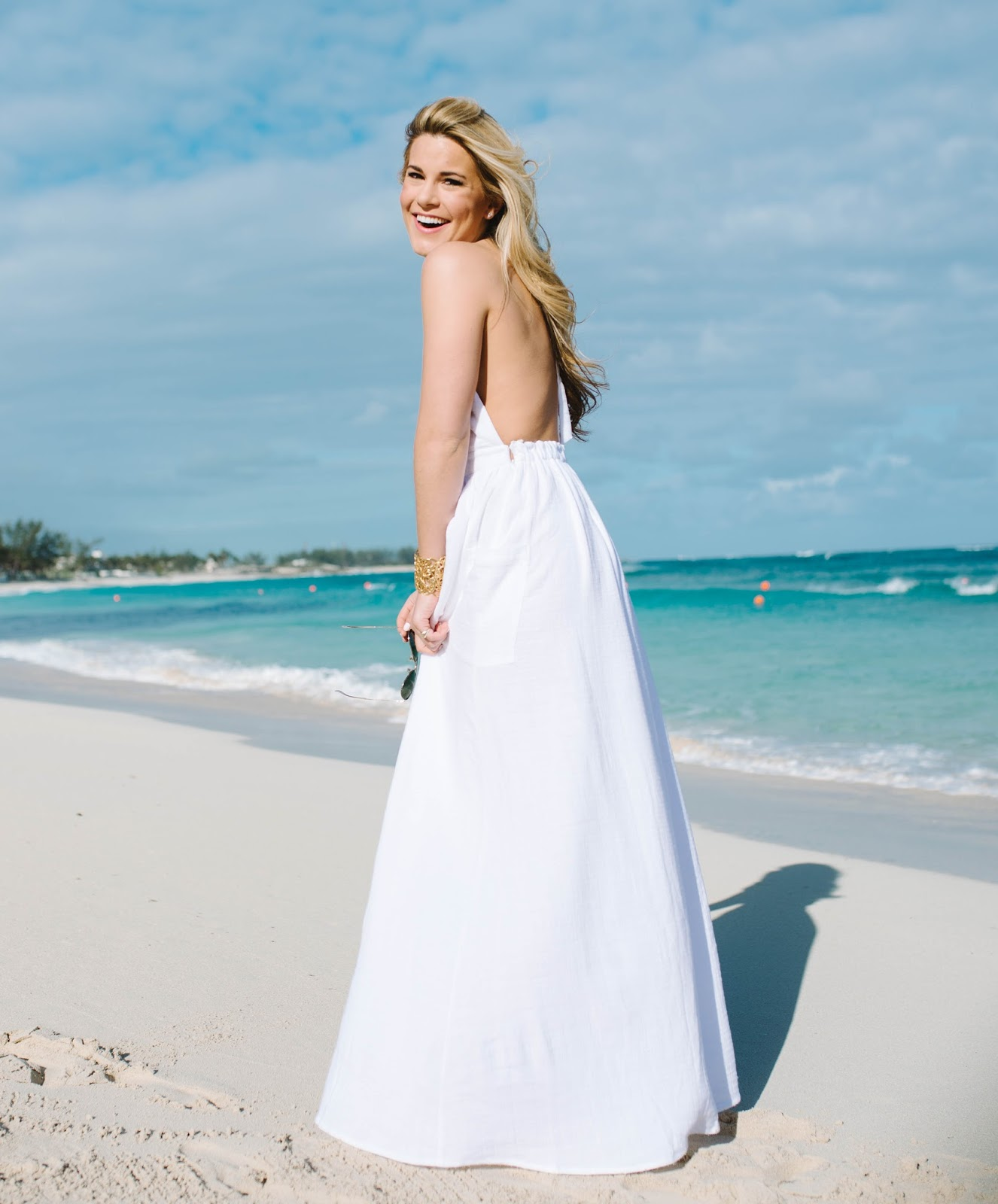summer wind stunning white backless maxi dress