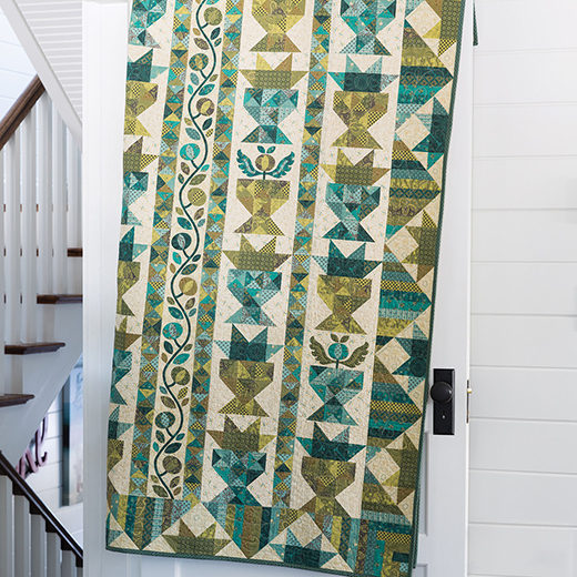 Sage & Sea Glass - Star Baskets Quilt designed by Kim Diehl for Henry Glass Fabrics
