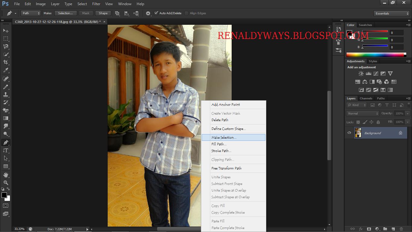 Cara Mengganti Background Foto Lewat Photoshop Dengan Mudah