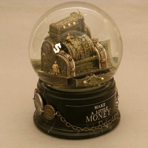 Make a Little Money snow globe