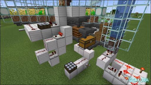 Minecraft 自動小麦農場で骨粉を与える装置